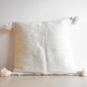 Pompom Kissen aus Wolle