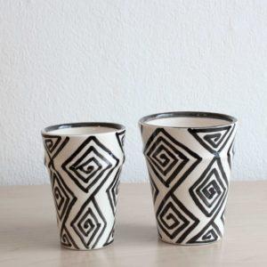 Schwarz weiße Tassen SPIRAL