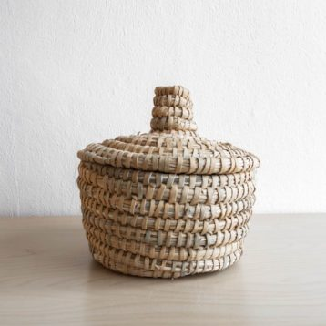 Moroccan basket made of palm leaves