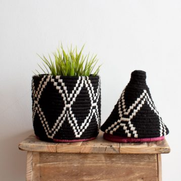Berber Baskets in black and white