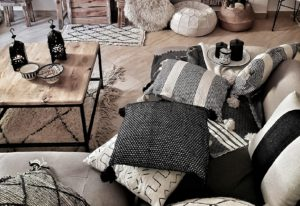 Handmade Moroccan blankets and cushions