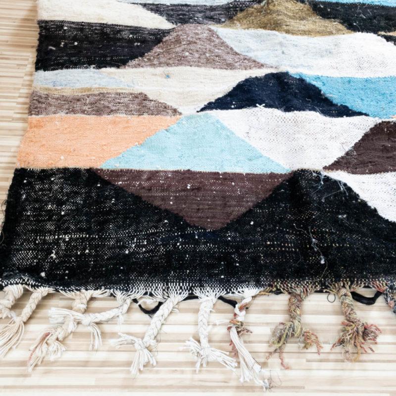 Marokkanischer Vintage Boucherouite Teppich