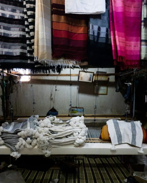 Weberei marokkanische Kissen und Decken