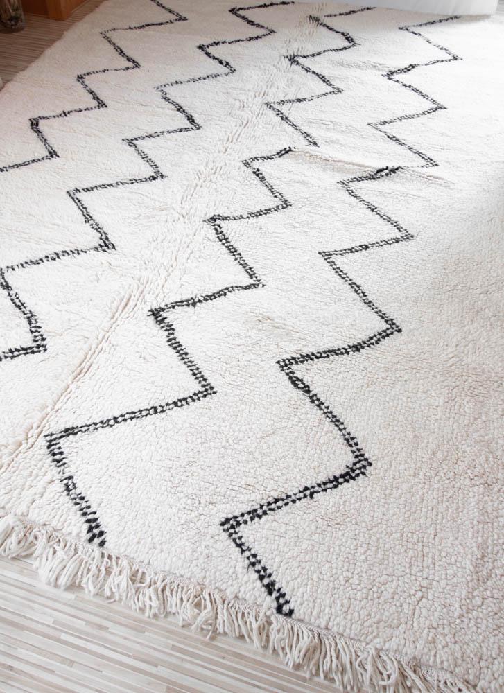 Marokkanischer Beni Ourain Teppich zickzack