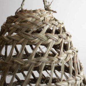 Marokkanische Hängelampe aus Stroh 50cm x 40cm
