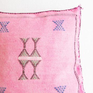 Kaktusseide Sabra Kissen in rosa