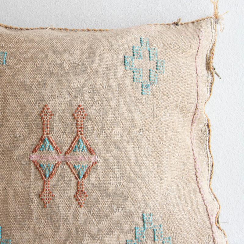 Sabra Kissen aus Kaktusseide sand