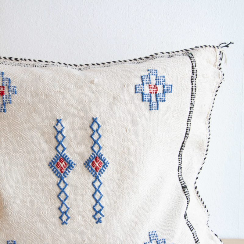 Sabra Kissen aus Kaktusseide weiß