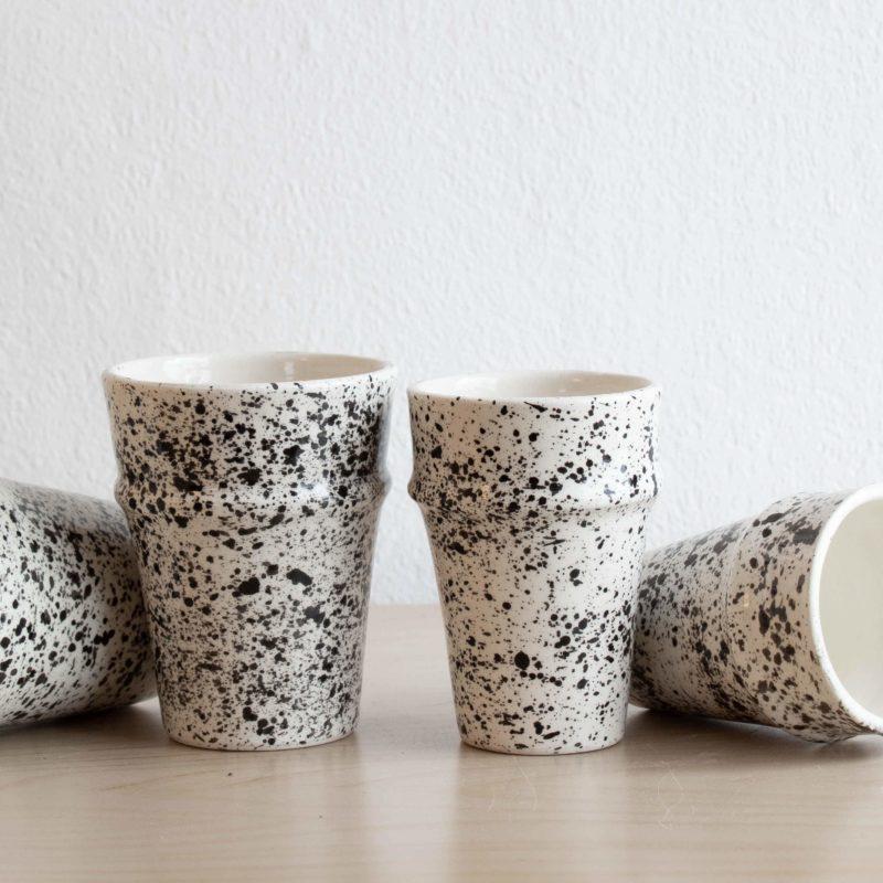 Gesprenktelte Tassen SPLASH im 2er Set