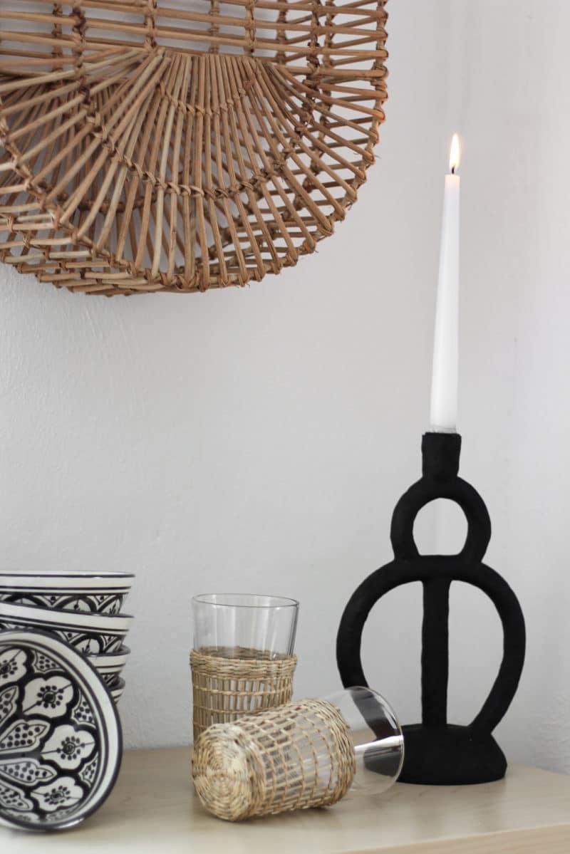 Bloomingville - Kerzenhalter schwarz