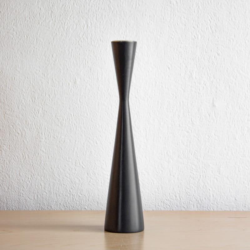 Kerzenhalter Anthrazit aus Akazienholz