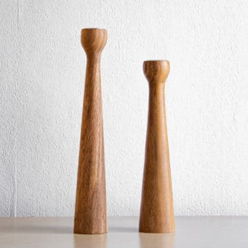 Kerzenhalter Set aus Akazienholz