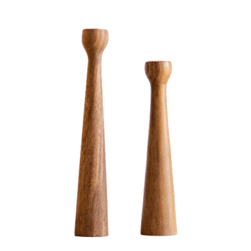 Kinta - Kerzenhalter Set NATUR aus Akazienholz