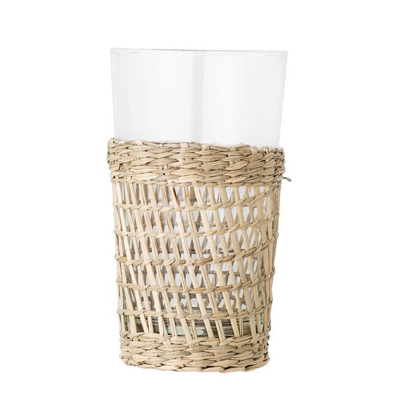 Trinkglas mit geflochtener Hülle - Bloomingville