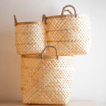 Bambus Körbe im 3er-Set