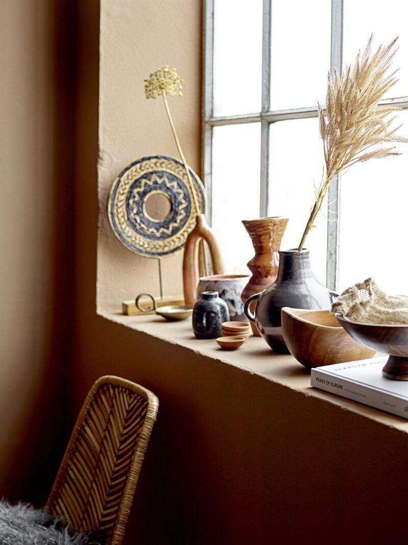 orange Vase von Bloomingville ringförmig für Trockenblumen
