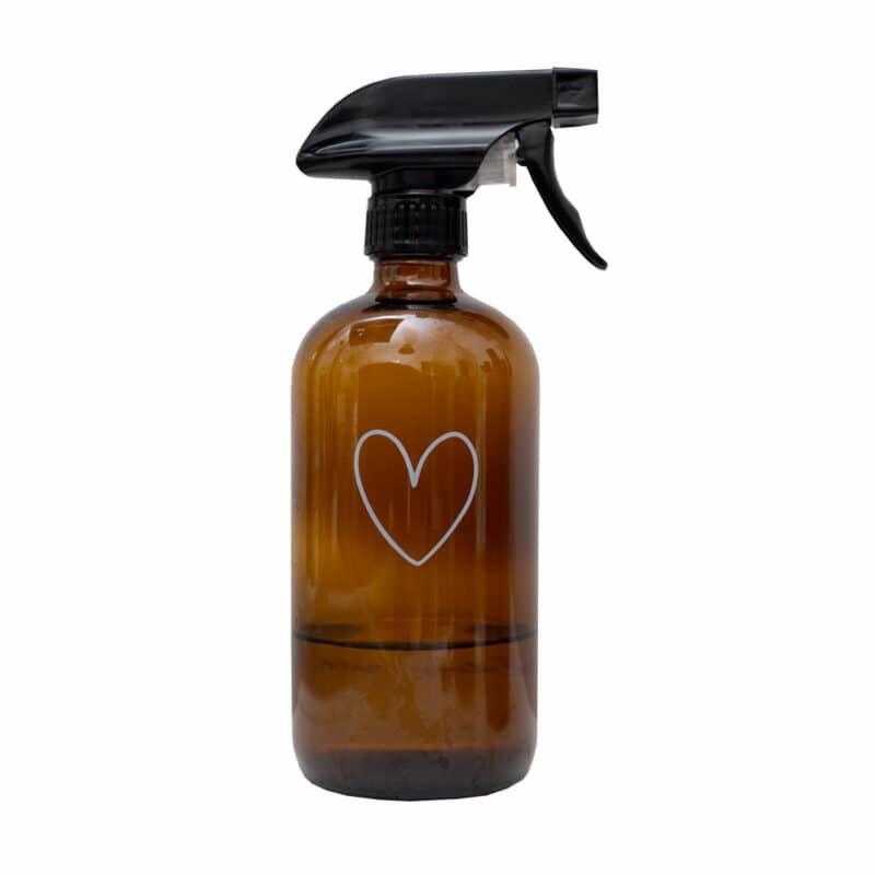 Eulenschnitt - Sprühflasche für Putzmittel aus Braunglas