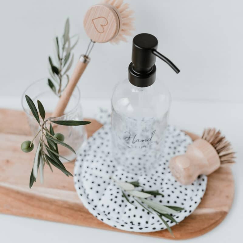 Eulenschnitt - Seifenspender aus Glas