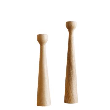 Kinta - Kerzenhalter Set NATURAL