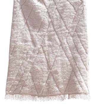 Beni Mrirt 1,50m x 2,40m - cremefarbener Wollteppich