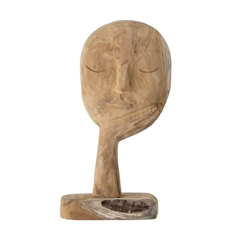 Bloomingville - Cacia Holzskulptur Gesicht mit Hand
